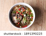 spicy oxtail soup muslim food | Shutterstock . vector #1891390225