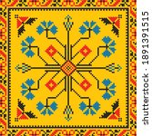 romanian vector pattern...   Shutterstock .eps vector #1891391515