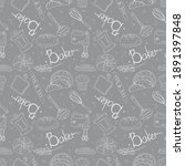 seamless pattern of baking and... | Shutterstock .eps vector #1891397848