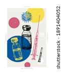 coronavirus vaccination poster...   Shutterstock .eps vector #1891404052