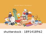 set of grocery product. flat...   Shutterstock .eps vector #1891418962