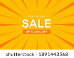 sale banner with yellow comic... | Shutterstock .eps vector #1891443568