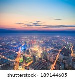 look down from above urban... | Shutterstock . vector #189144605