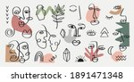 abstract tribal woman portrait... | Shutterstock .eps vector #1891471348