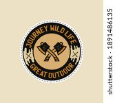 vintage camp patches logo ... | Shutterstock . vector #1891486135
