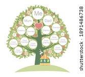 family genealogic tree. parents ...   Shutterstock . vector #1891486738