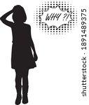black girl silhouette  concept... | Shutterstock .eps vector #1891489375