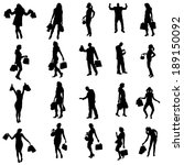 vector silhouette of a people... | Shutterstock .eps vector #189150092