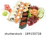 japanese sushi fish and seafood ...   Shutterstock . vector #189150728