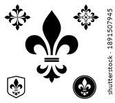 black heraldic sign  logo ... | Shutterstock .eps vector #1891507945