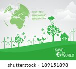 ecological and save the world... | Shutterstock .eps vector #189151898