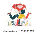 couple in love   valentines day ... | Shutterstock .eps vector #1891529578