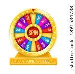 fortune wheel. cartoon rotating ...   Shutterstock .eps vector #1891534738
