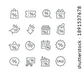discount related icons  thin... | Shutterstock .eps vector #1891537678