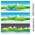 different mountain landscapes... | Shutterstock . vector #189154316