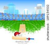 vector illustration of cricket... | Shutterstock .eps vector #189154532