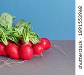 A Bunch Of Ripe Radishes With...