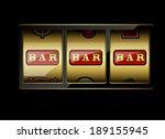 slot machine symbols on black... | Shutterstock .eps vector #189155945