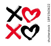 Xoxo Hand Drawn Phrase Isolate...