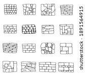 Stone Wall Masonry. Vector...