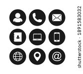 contact us icons. vector... | Shutterstock .eps vector #1891583032