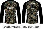 camouflage long sleeve t shirt  ... | Shutterstock .eps vector #1891593505