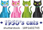 set of 4 1950's retro colorful...   Shutterstock .eps vector #1891602745