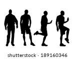 vector silhouette of people on... | Shutterstock .eps vector #189160346