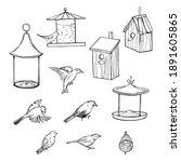 Hand Drawn Bird Feeders ...