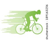 cyclist vector background... | Shutterstock .eps vector #189163256