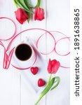 Flowers Tulips  Black Coffee...