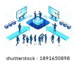 isometric 3d business... | Shutterstock .eps vector #1891650898