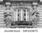Window Decorated By Statues In...