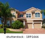 perfect house under purple blue ...   Shutterstock . vector #1891666