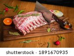 Raw Lamb Ribs With Cooking...