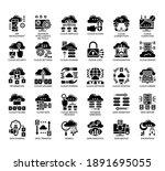set of cloud technology thin... | Shutterstock .eps vector #1891695055