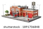 Fire Station Building On A...