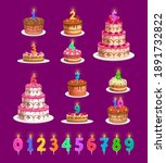 candles on birthday cakes with... | Shutterstock .eps vector #1891732822