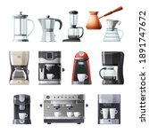 coffee maker and machine vector ... | Shutterstock .eps vector #1891747672