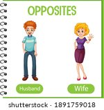 opposite words with husband and ...   Shutterstock .eps vector #1891759018