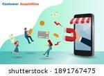 customer acquisition  retention ... | Shutterstock .eps vector #1891767475