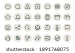 basic app ui icons vector...
