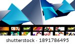 set of vector abstract... | Shutterstock .eps vector #1891786495