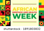 african heritage and health...   Shutterstock .eps vector #1891803832