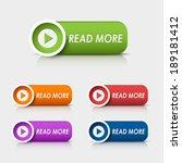 colored rectangular web buttons ...   Shutterstock .eps vector #189181412