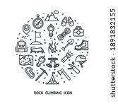 rock climbing sign round design ... | Shutterstock .eps vector #1891832155