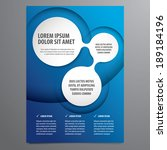 business flyer  brochure vector ... | Shutterstock .eps vector #189184196