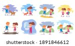 good children versus bad kids... | Shutterstock .eps vector #1891846612