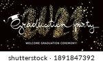 graduate 2021. vector... | Shutterstock .eps vector #1891847392