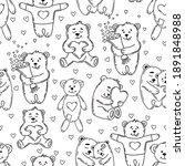 love bears seamless pattern in... | Shutterstock .eps vector #1891848988